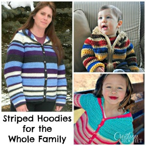 Ravelry Striped Hoodies for the Whole Family