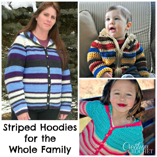 Striped Hoodies for the Whole Family
