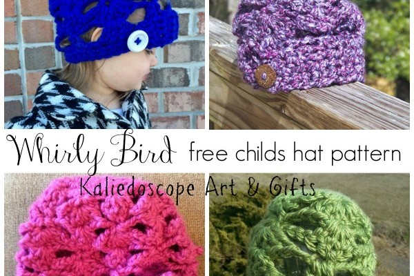 Whirly Bird free children's hat pattern