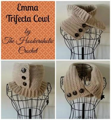 free crochet cowl pattern by Hookeraholic Crochet