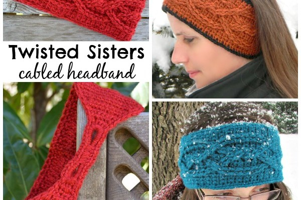 Free Crochet Headband Pattern Twisted Sisters