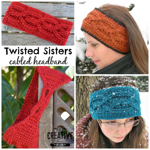 Free Crochet Headband Pattern Twisted Sisters Cre8tion Crochet