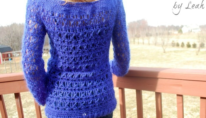 Wicker Weave a free crochet sweater