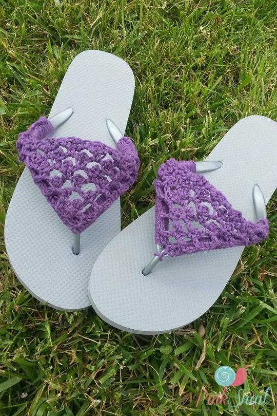 Peekaboo Picot Flip Flops free crochet pattern - Cre8tion ...