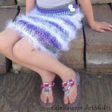 Firecracker Flapper Skirt free crochet pattern designed by Kaleidoscope Art&Gifts, exclusively on Cre8tion Crochet.