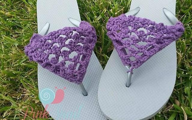 Peekaboo Picot Flip Flops free crochet pattern