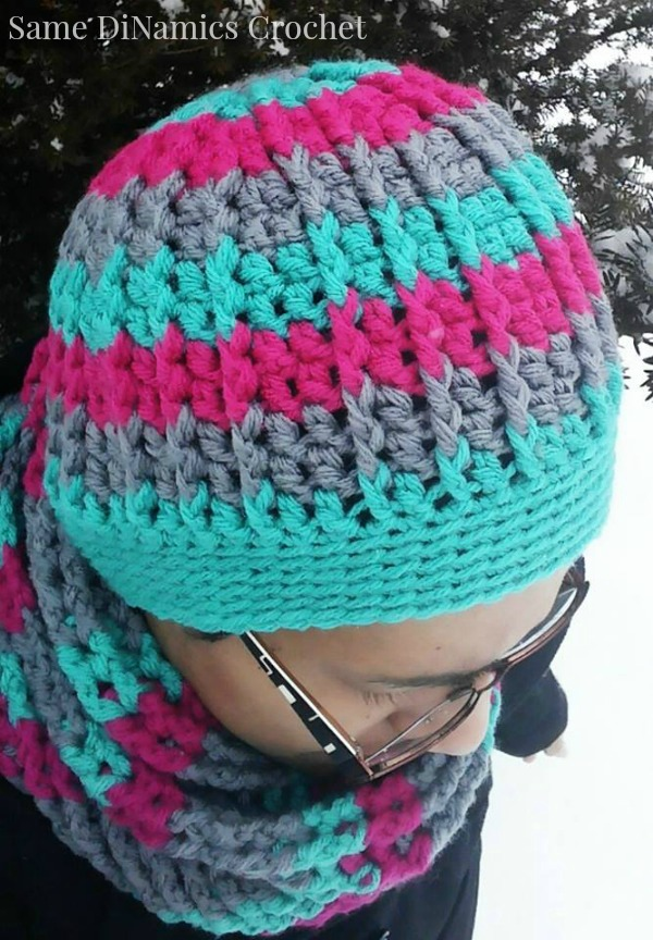 Cables And Stripes Free Crochet Hat Pattern Cre8tion Crochet