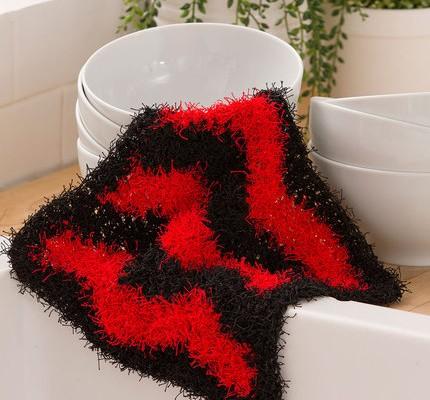 Chevron Free Crochet Dish Scrubbie Pattern