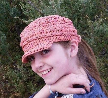 Cordial Cadet Cap free crochet hat pattern