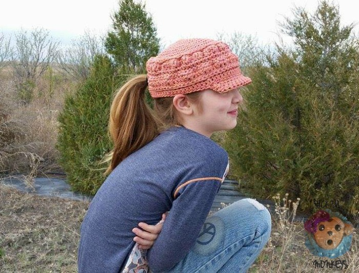 ec941b3c8c95e Cordial Cadet Cap free crochet hat pattern - Cre8tion Crochet
