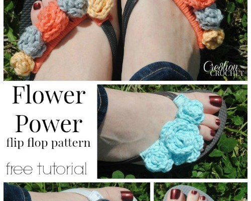 Free Flip Flop Flower Tutorial