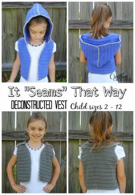 It Seams That Way Deconstructed Vest in child sizes 2 - 12