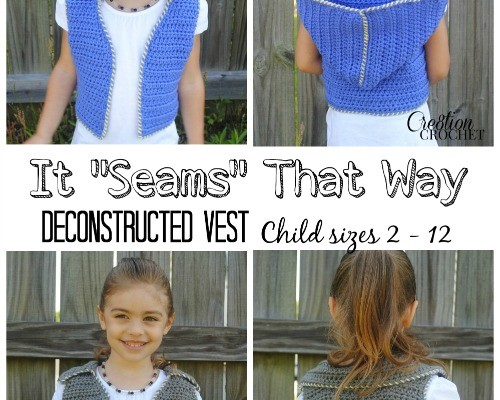 "It ""Seams"" That Way Crochet Vest Pattern"