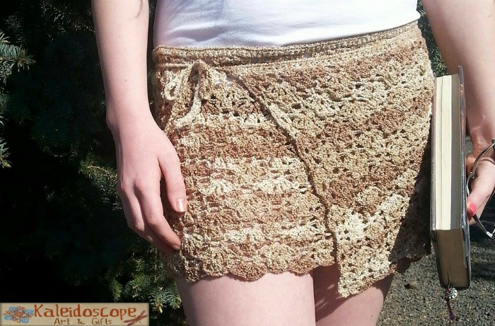 Lovely Lily Swim cover-up free crochet pattern designed by Kaleidoscope Art&Gifts