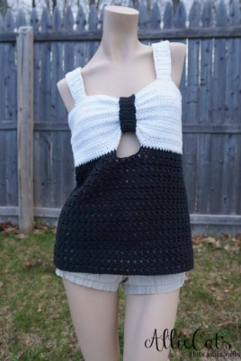 My Fair Lady free crochet tank top pattern designed by AllieCats Hats & Gifts