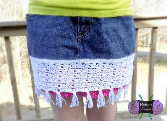 Upcycled Skirt from and old pair of jeans or jean shorts.  Easy free tutorial.