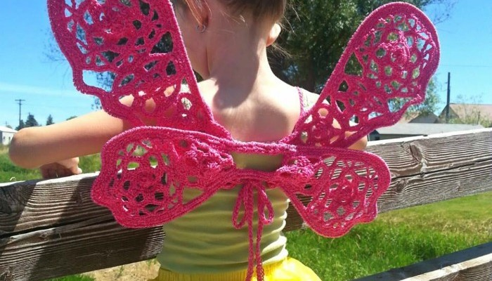 Free crochet wings pattern