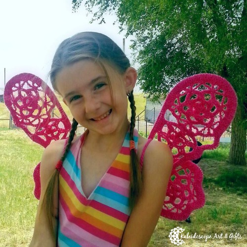 Free crochet wings pattern. Enchanted Ivy Wings. Every little girl in your life needs a pair of these.
