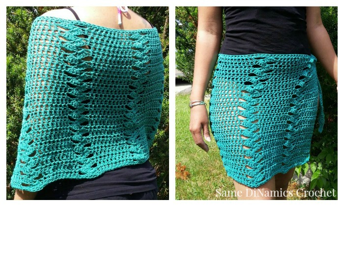 Beautiful St. Croix Beach Wrap free crochet pattern - Cre8tion Crochet LB35