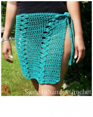 St Croix Beach Wrap.  Free pattern designed by Same DiNamics Crochet.