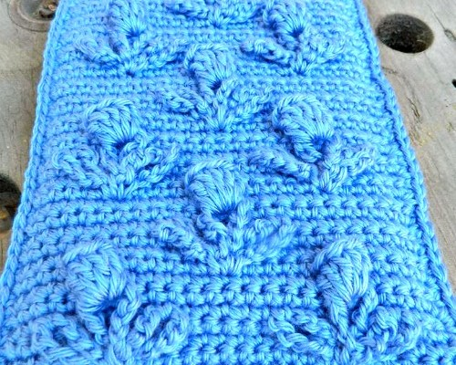 The Blooming Thistle Free Crochet Tablet Cozy Pattern