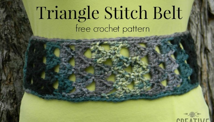 Triangle Belt Free Crochet Pattern