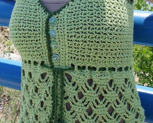Beach Grass Free Tank Top Crochet Pattern