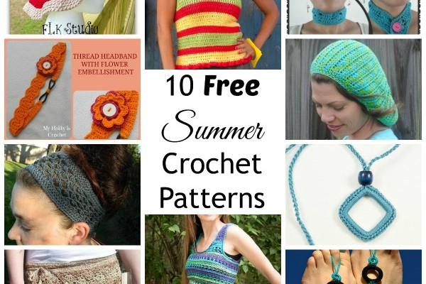 10 Free Summer Crochet Patterns