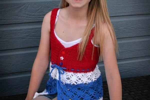 Child's Beach Grass Free Crochet Tank Top Pattern
