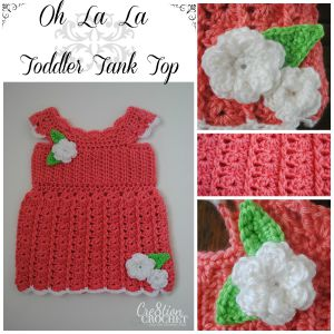 Oh La La Toddler Tank Top by Cre8tion Crochet