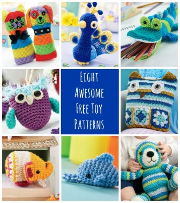 8 Awesome FREE Crochet Toy Patterns