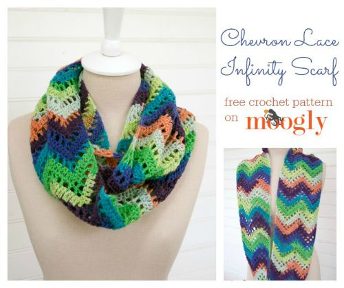 Chevron Lace Infinity Scarf