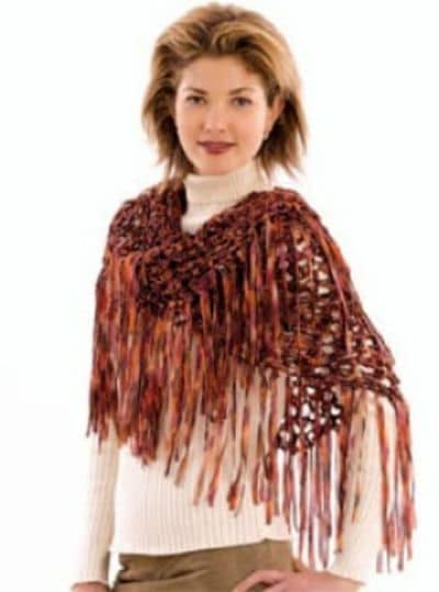 Crochet Bronze Beauty Shawl