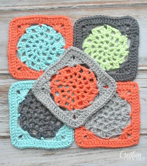 Crochet Lace Square. Free Pattern.