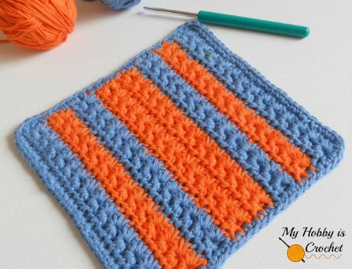 Crochet Star Stitch Variation Star Stitch Baby WashclothDishcloth Free Crochet Pattern
