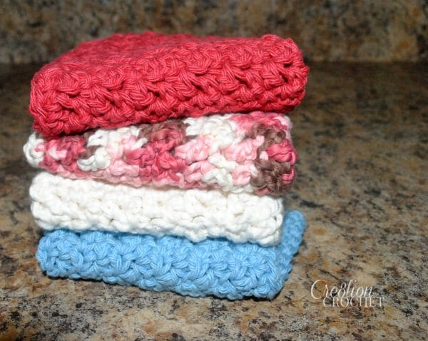 The Ups And Downs Of Dishes Free Crochet Dish Cloth Pattern