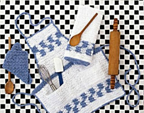 Free Crochet Pattern Crochet Kitchen Aid Ensemble