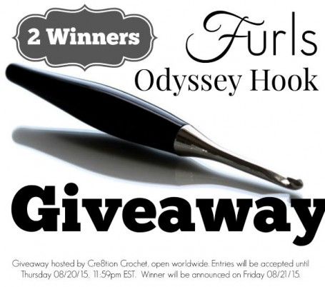 Furls Odyssey Hook Giveaway hosted by Cre8tion Crochet.