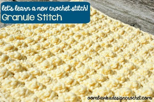 Granule Stitch and Bumpy Textured Square