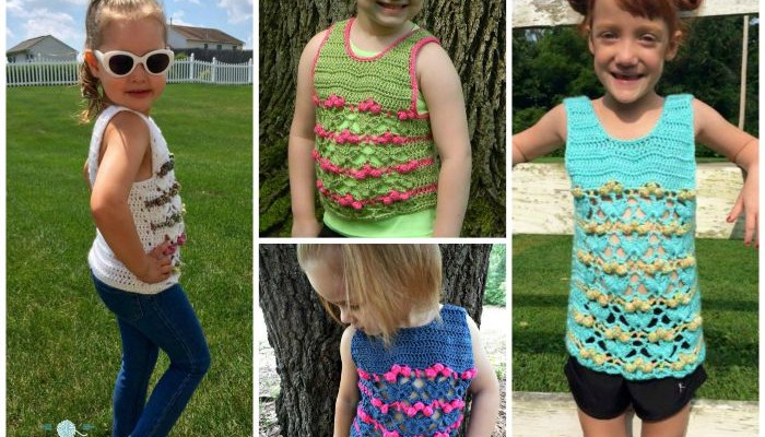 Blooming Flowers Free Crochet Tank Top