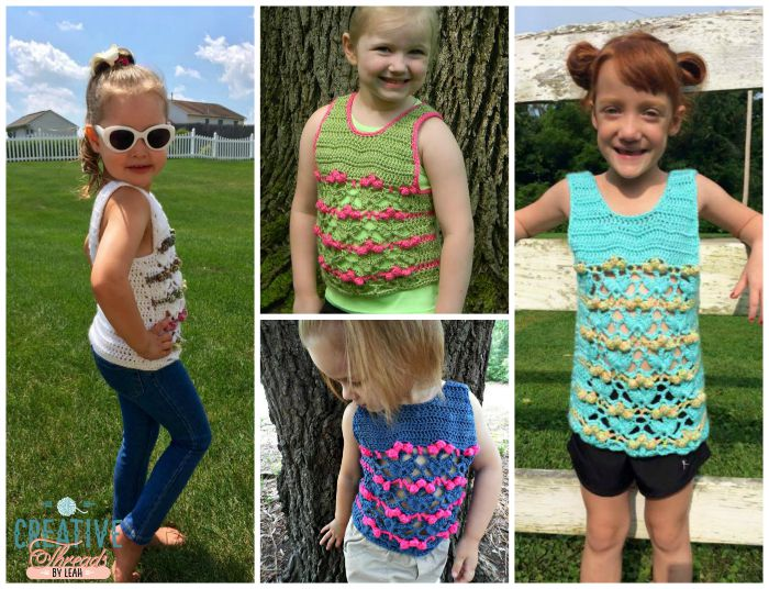 I love this new tank design. Size 4 is available for free. Pair it with jeans for an adorable kids outfit.