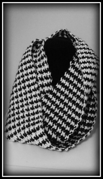 Infinity Houndstooth Scarf
