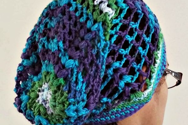 Slouchy Puff free crochet hat pattern