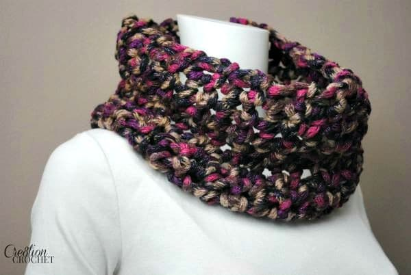 Romantic Twillight Cowl free crochet pattern by Cre8tion Crochet.