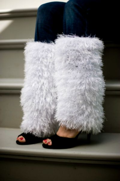 Snowy Lane Urban Winter Leg Warmers