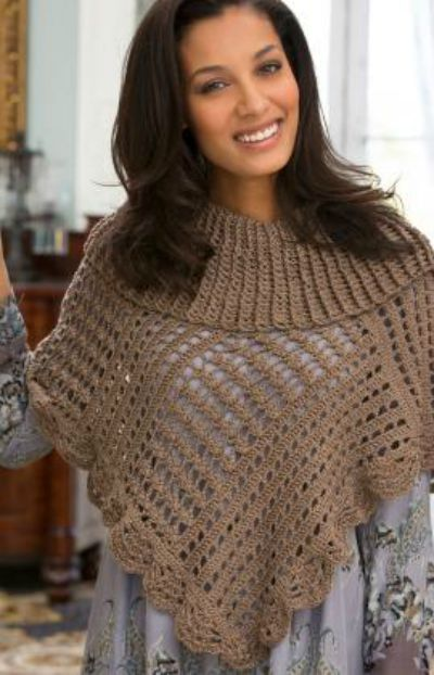 Toasty Poncho Crochet Pattern