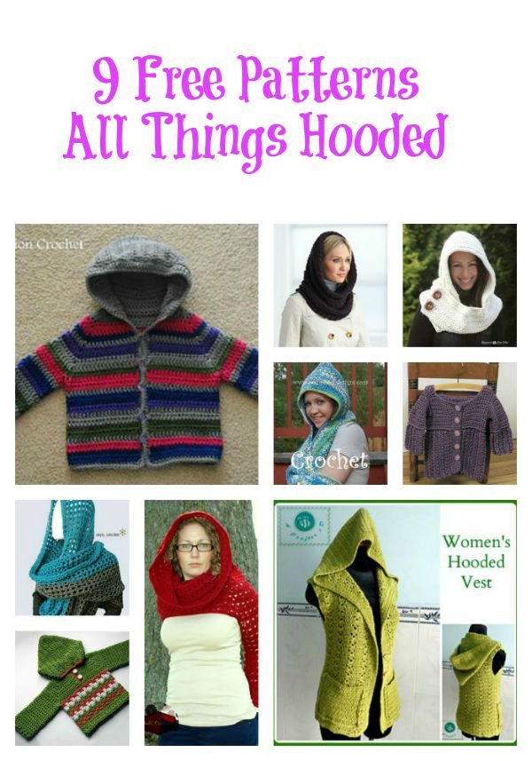 All Things Hooded Free Patterns Collage