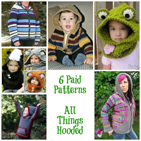 All Things Hooded Paid Patterns Collage