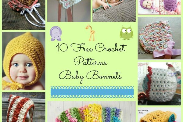 Baby Bonnet Hats Free Crochet Patterns Round Up
