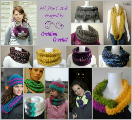 14 Free Cowl Patterns on Cre8tion Crochet